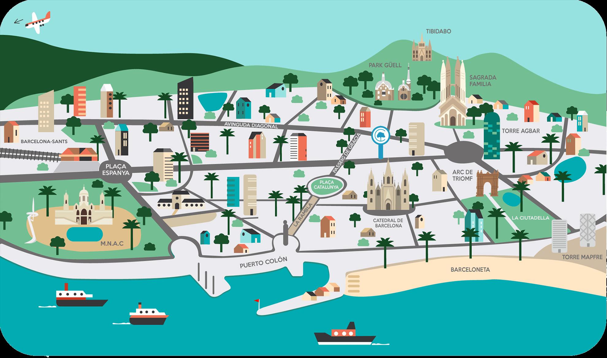 Carte Barcelone El Cedro